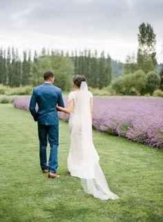 Woodinville Lavender Farm Wedding Inspiration Field Wedding, Farm Wedding, Lavender Boutonniere, Lavender Weddings, Loose Updo, Chic Vintage Brides, Spring Wedding Inspiration, Lavender Fields, Floral Invitation