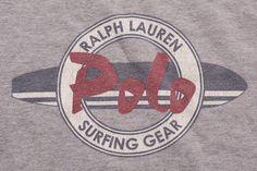 Ralph Lauren Surfing Gear T-Shirt, Polo Sport Graphic Tee, Vintage 90s, Hip Hop, Surfer