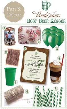 root beer kegger part 3: party decorations - delphine ephemera blog - musings on stationery, wedding invitations & graphic design