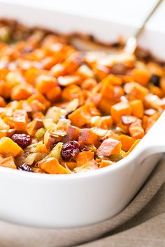 Cranberry Sweet Potato Stuffing 2 Ways | Get Inspired Everyday!