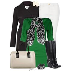 A Pop Of Green, created by jafashions on Polyvore