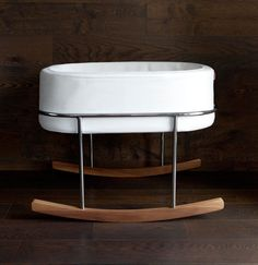 They may be small but newborns need cool, luxurious places to sleep too, so Ralph Montemurro designed the Rockwell Bassinet for Monte Design.