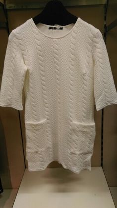 Cream 3/4 Sleeve with front pocket