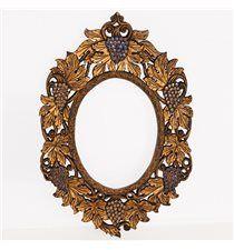 Espejo uvas dorado 75x50cm