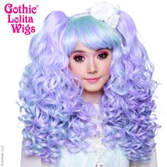 Gothic Lolita Wigs®  Baby Dollight™ Collection - Lavender & Mint Blend #lolita #wig #wig4wig #glw #gothcilolitawigs #pastelhair #curlyhair #princess #doll #dolly #livingdoll #lolitafashion #Jfashion #makeupartist #circlelenses #eyelashes #rockalash #dolluxe #lash #lashes #kawaii #cute #pretty #gyaru #mori #ulzzang #angelicpretty #babythestarshinebright