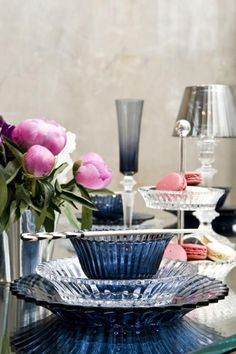 Baccarat nuit crystal bowls.
