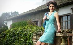Misty turquoise. Lisen linen dress.