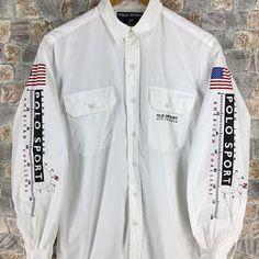 c9d0493ce POLO RALPH LAUREN Buttondown Shirt Small Vintage 90s Us Polo Sport 1967  Oxfords American Challenge P