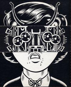 Facetasm - Charles Burns & Gary Panter  http://www.widewalls.ch/artist/gary-panter/ #comics #urbanart