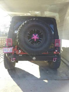 black jeeps with pink accents | Rockhard front full size bumper