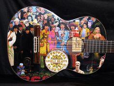 """Sgt. Pepper"" Guitar Art by Lou Yanez"