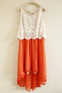 Womens Bead Lace Vest Dress.
