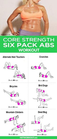 These 6-pack exercises are designed to do just that. So get ready for your new six-pack fitness routine to tone, sculpt and define those abs!