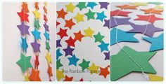 6m Rainbow Stars Paper Garland by TheRainbowPaperie