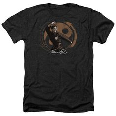Bruce Lee/Jeet Kun Do Pose Adult Heather T-Shirt in