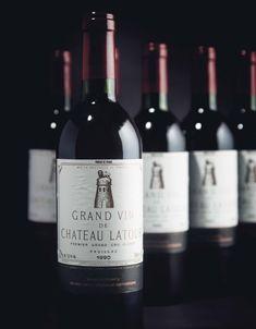Château Latour 1990 , 12 bottles per lot Wine Design, Label Design, Chateau Latour, Wine Society, Beautiful Girl Body, Wine Photography, Kitchen Magic, Types Of Wine, Grand Cru