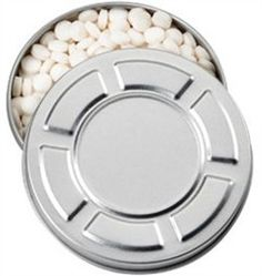 Movie reel tin cans