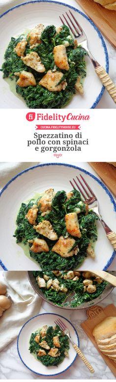 MPOWER/// Spezzatino di pollo con spinaci e gorgonzola