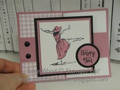 Stamp with Susie: It's a fun 'z fold' card using the set 'Beautiful You'!