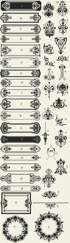 Letterhead Fonts / LHF Vintage Sign Elements / Classic Panels & Borders NOT FREE