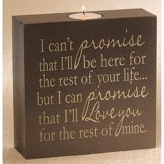 I Can't Promise Candle