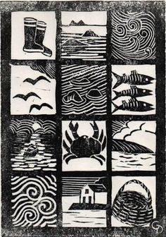 Image result for cubist lino cuts