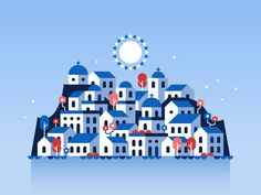 Santorini illustration by Alex Pasquarella