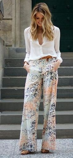 palazzo trousers for spring. #streetstyle