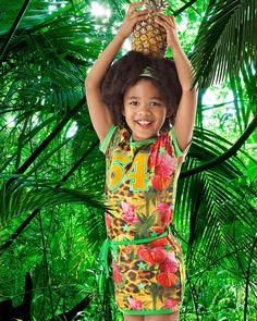 een tropische verrassing  van @funky XS.  http://stoerkids.nl/shop/kinderkleding/meisjes/funkyxs-meisjes-jurk-sporty/