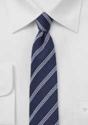 Krawatte Wolle Linien nachtblau günstig kaufen