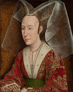 Portrait of Isabella of Portugal by Workshop of Rogier van der Weyden, about 1450, later additions about 1500.