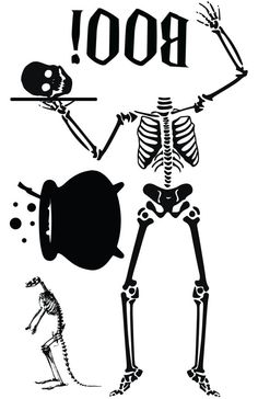 hilarious skeleton!! must have. Halloween Window Cling Silhouette Skeleton with by NipomoImprints, $14.00