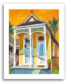 New Orleans Shotgun House Art Garden District French Quarter Art Prints Signed and Numbered (Buy Two, Get One Free) New Orleans Architecture, Art And Architecture, Vernacular Architecture, Victorian Architecture, New Orleans Art Galleries, New Orleans Garden District, House Painting, Painting Art, Watercolor Painting