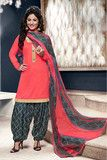 Designer Patiala Suit:atisundar Lovely Peach Designer Straight Cut - 8 | atisundar Salwar Suits and Sarees - Buy online direct from the factory