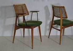 HABEO 4 ausgefallene Stühle Kirsche dining chairs mid century zum restaurieren