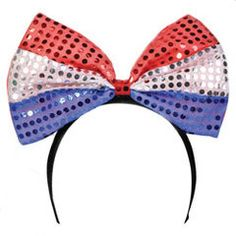 Privateislandparty.com - 4th of July LED Bowtie Headband 1874 $4.99 Show your patriotic spirit with this hugely fun and prideful oversized bowtie and headband in one.