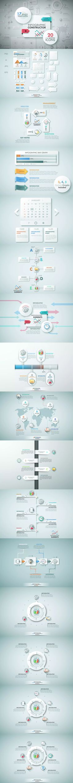 Infographic Constructor Template AI, EPS, PSD, JPG