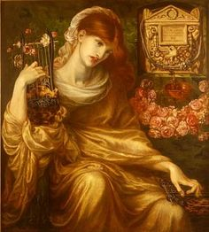 """""""Roman Widow""""Dante Gabriel Rossetti .1874."""