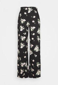 Zalando Pantalon Large, Black Noir, Wide Pants, Easy, Pajama Pants, Pajamas, Clothes, Fashion, Pants