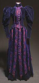 SilkDamask : L'Heure Bleu….A Gown of Midnight Blue Velvet
