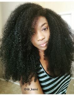@dr_kami || long Afro hair. Long kinky hair. Long natural hair.
