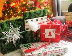 There are ways to wrap pretty Christmas presents that will endure the mail. These presents can be under the tree and build excitement for the receiver.