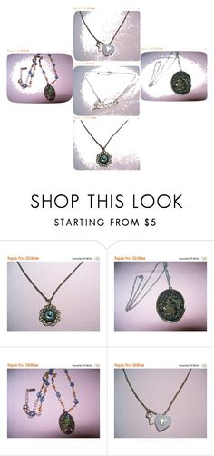 """Pendants for perfect flair!"" by vintagebyrudi ❤ liked on Polyvore featuring Liz Palacios, Avon and vintage"