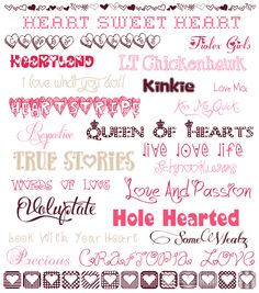 Valentine's Day fonts - Free