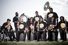 Hot 8 Brass Band.  I dare you to not move your feet once those horns start to blow...
