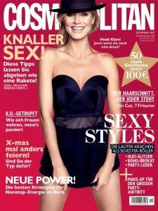 Female Movie Stars, Cover Model, Heidi Klum, Cosmopolitan, Strapless Dress Formal, Magazines, Top Models, Celebrities, Norway