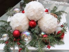 Snowball Christmas Ornaments