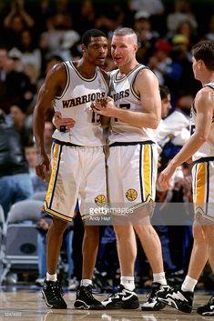747ecc2278c4 Latrell Sprewell 15 and Chris Mullin of the Golden State Warriors.