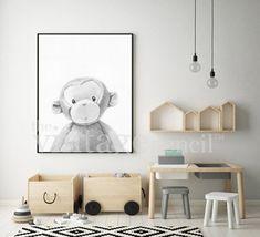 nursery decor jungle animal print safari nursery zoo animal monkey print baby monkey monkey art monkey printable monkey nursery - The world's most private search engine Monkey Nursery, Safari Nursery, Nursery Decor, Room Decor, Baby Decor, Nursery Ideas, Ikea Kids, Monkey Art, Project Nursery