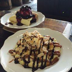 Raspberry & Chocolate Banana Pancake by Nanny's Pavillon